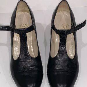 Genuine CHANEL Mary Janes heels